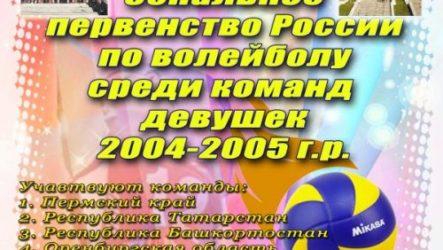 Итоги зонального первенства России по волейболу среди девушек 2004-05 г.р.
