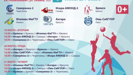 Расписание игр первого финального тура 19-24 марта г.Череповец