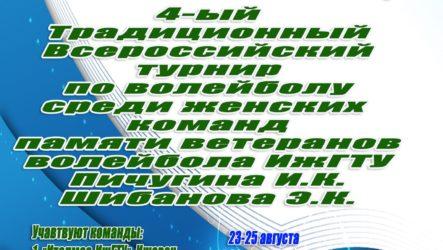 Турнир памяти ветеранов волейбола ИжГТУ Пичугина И.К. и Шибанова Э.К.