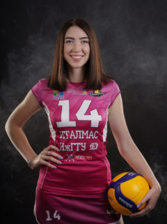 Полина Мельникова Игровой номер - 14 Амплуа - центр. блокирующий Дата рождения - 17.07.1998 Рост - 177 см ВКонтакте: https://vk.com/id343299670